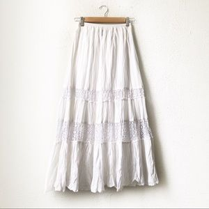 Style & Co | White Crochet Maxi Skirt PP